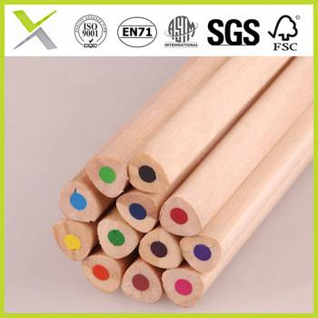 triangle natural wood color coloured pencil with a good price