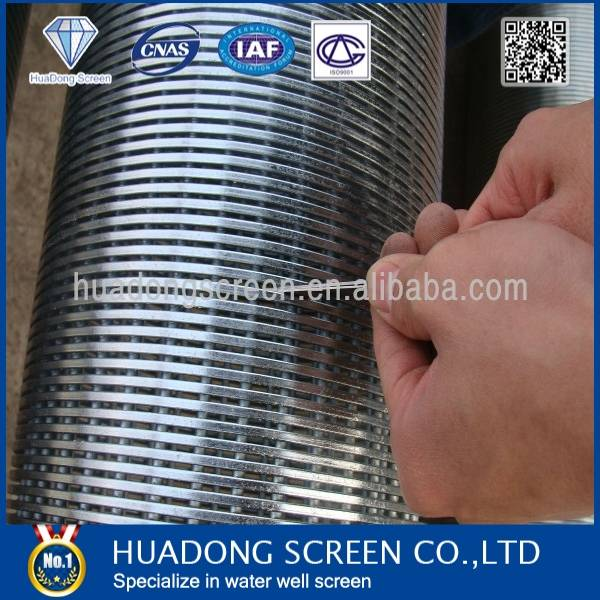 Johnson stainless steel water well screen/filter screen tube for water treatment