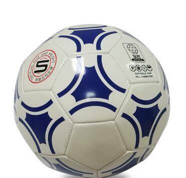 metallic finish PVC lamination football soccer ball size 5