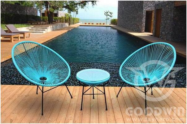Gw3219 Garden Furniture Leisure Set Colorful Egg Chair Used as Outdoor Furniture