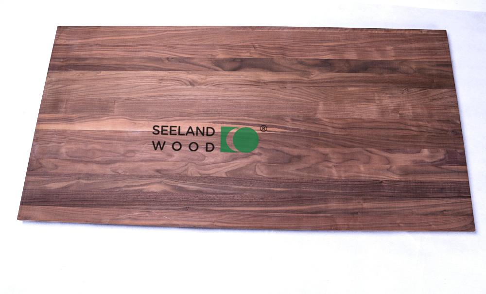 American black walnut edge glued board
