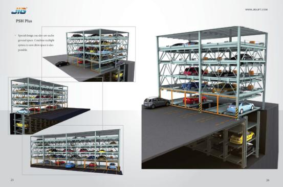 automatic lifting sliding puzzle car parking system