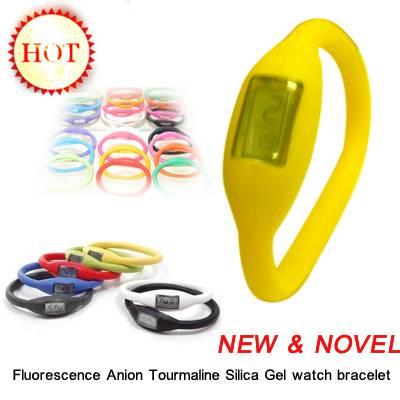 Anion Tourmaline Silica Gel watch bracelet