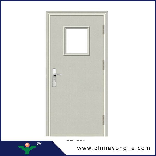 China Yongkang steel Security firefroof door, 2 hours fire rated door