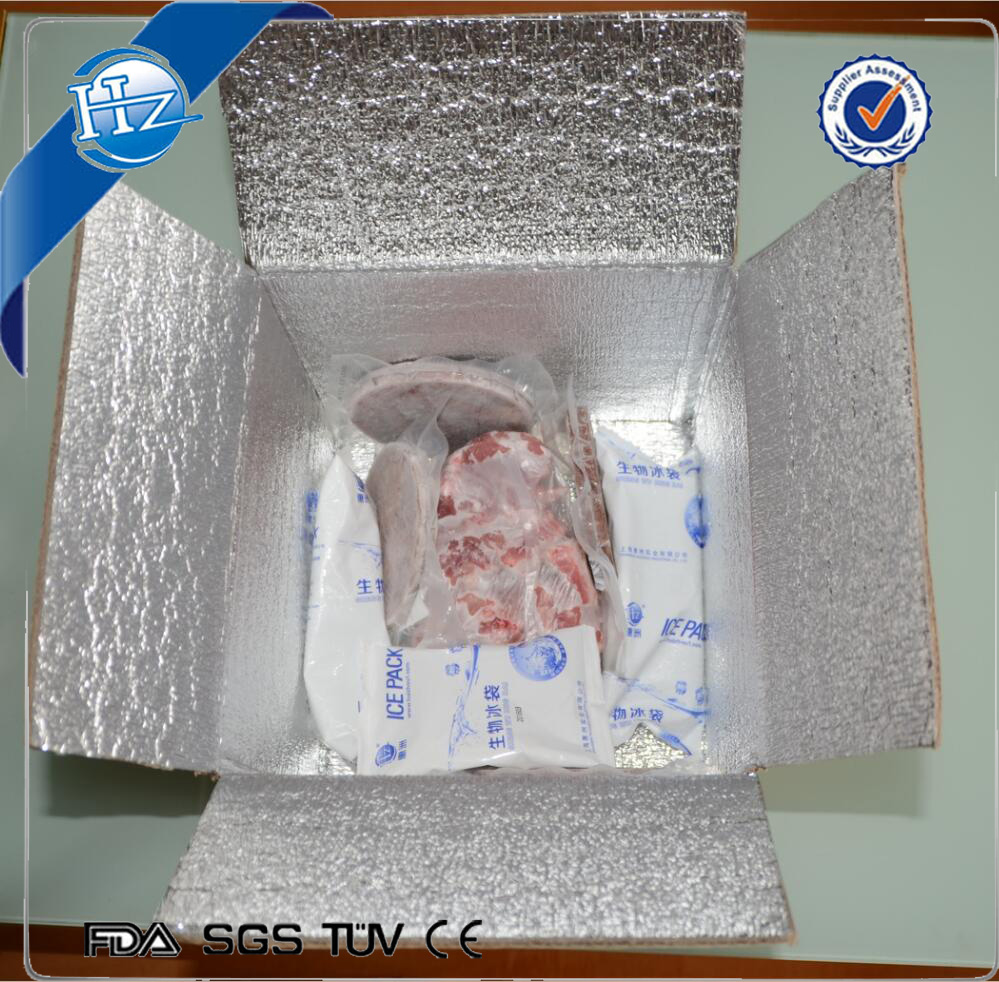 Insulated shipping foil shipping cooler box