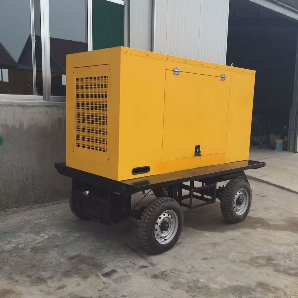 30kw trailer diesel generator with soundproof canopy max 33kw