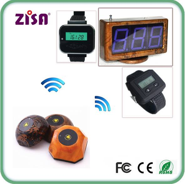ZISA wireless call paging system, waiter watch pager