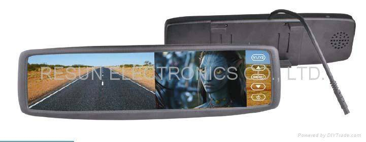 """Clip on Anti-Glare Rearview Mirror with 4.3 """" TFT LCD Color Monitor Bluetooth"""