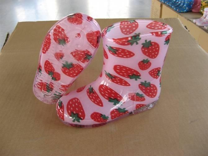 100% waterproof, cute and color children's pvc/nitrile rubber rain boots