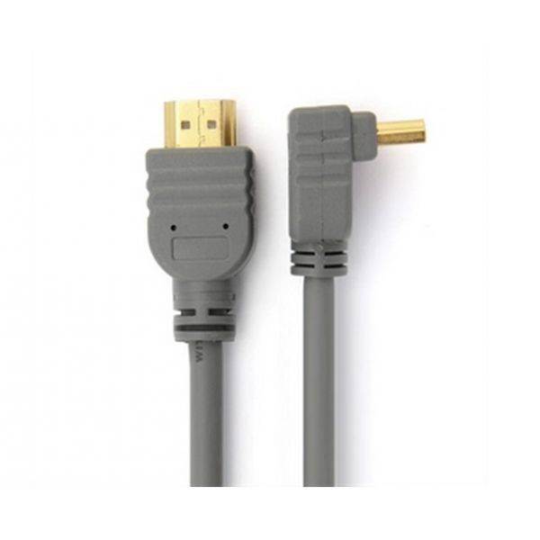 Super 90 Degree Angle HDMI Cable With Ethernet, M/M, 1.4 Version, Luxury Gold Plated Plug.