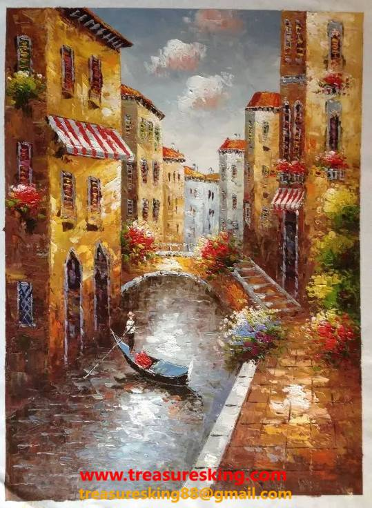 Canvas Oil painting 100%hand painter Venice