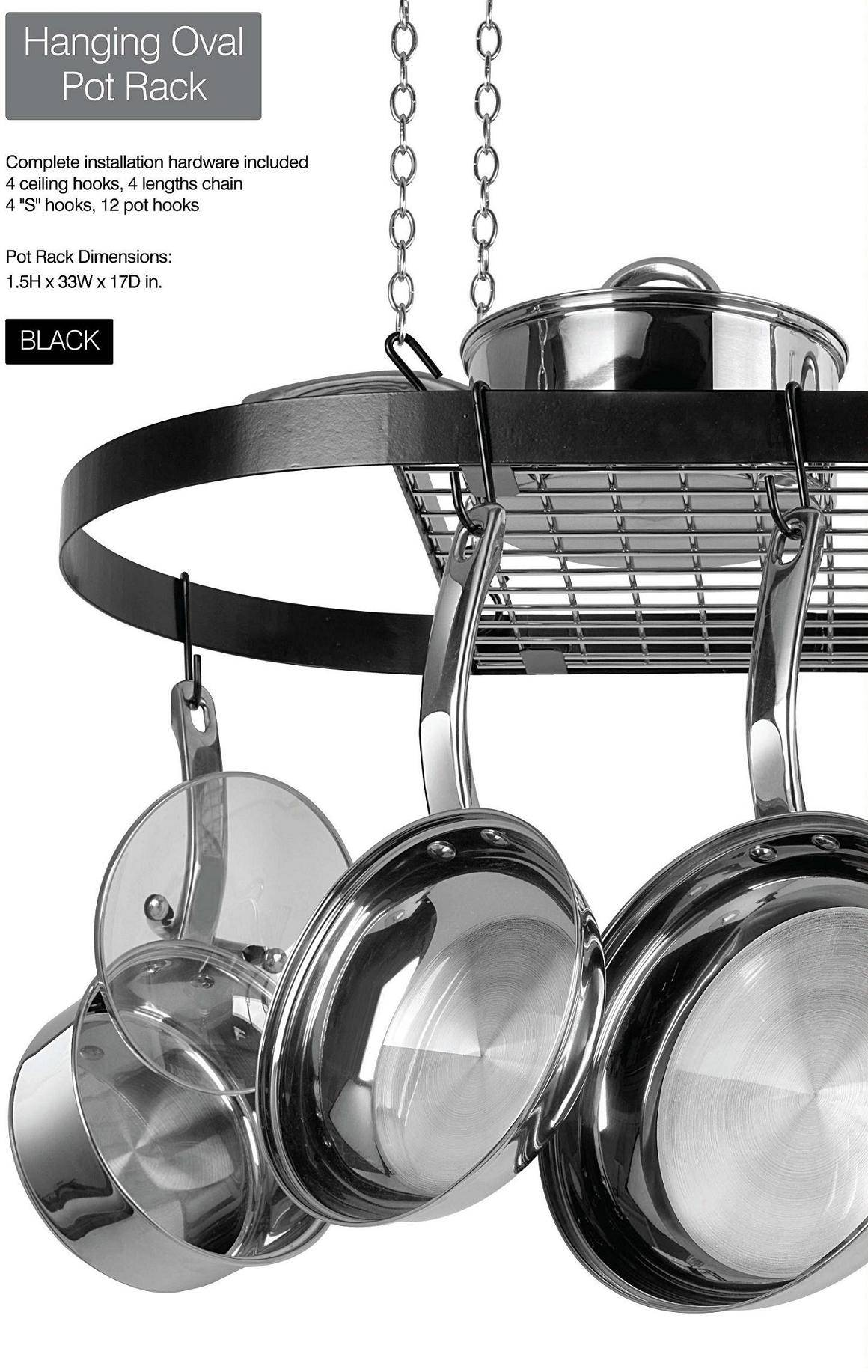 Black coating hanging pot rack