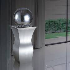 Stainless steel sphere waterfall fountain