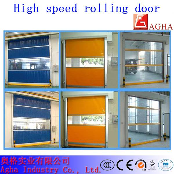 Wind resistance high speed door