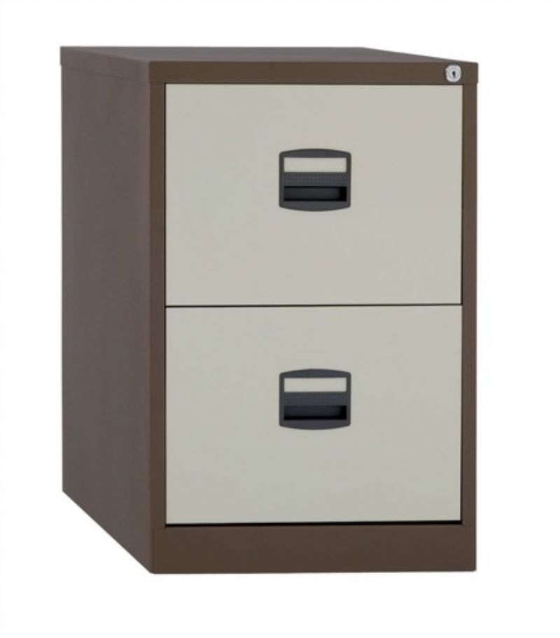 Mini size knock down structure double drawer filing cabinet