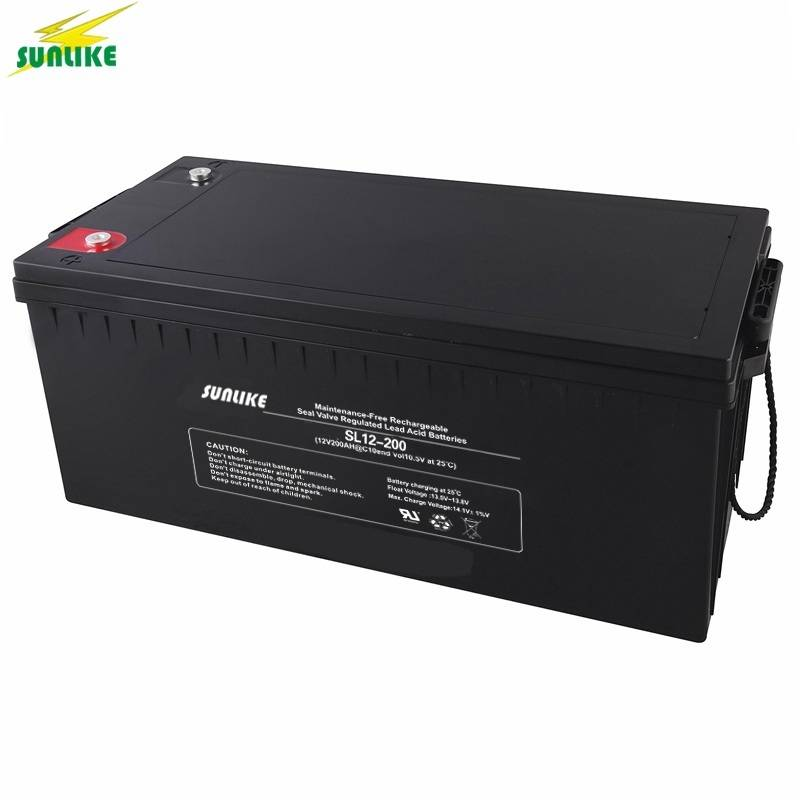 12V 200ah Deep Cycle AGM Battery Solar Power Battery for Solar System