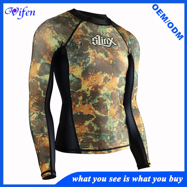 two piece lycra camo surfing suit swimming suit snorkeling diving suit pants