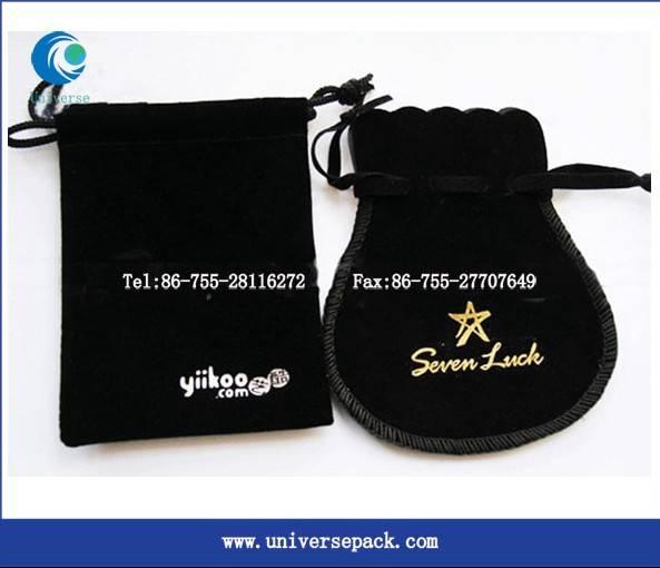 Customized  design drawstring  gift velvet bag