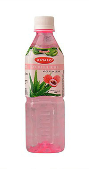 Lychee Aloe Vera Juice with Pulp Okeyfood in 500ml Bottle
