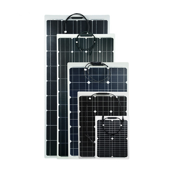 Monocrystalline flexible solar panel MATT / ETFE 60w - 180w for boat, car battery