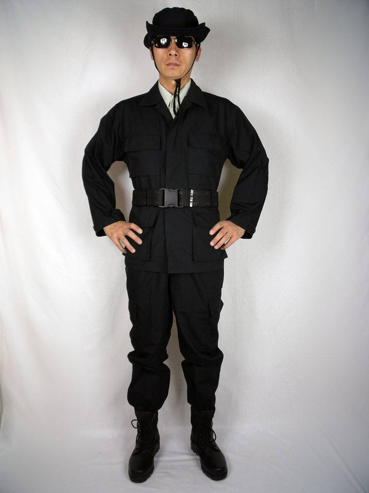 BDU Black military uniform