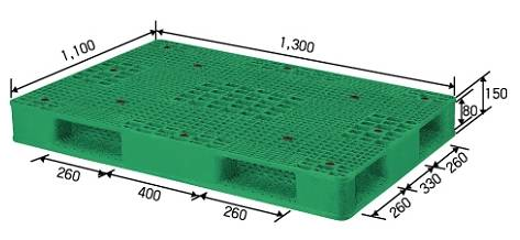 Reversible Plastic Pallet for medium Duty Service (Grilled Type)