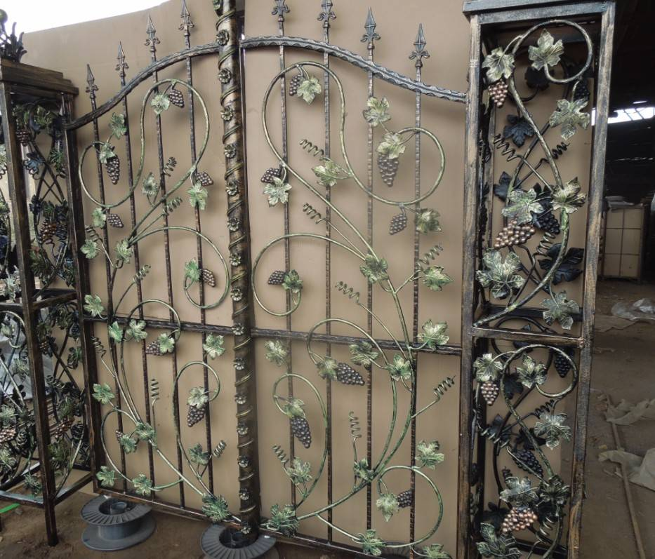 Wrought iron/Forged steel door