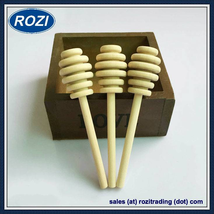 10.5cm Wooden Honey Dipper Drizzler Stirring Stick