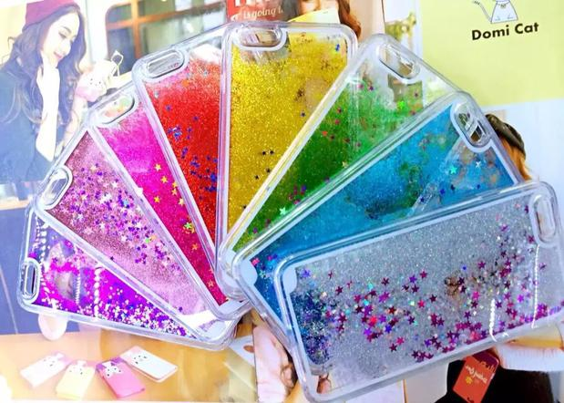 2017 New Style Glitter Liquid Case For iPhone 7, For iphone 7 case tpu