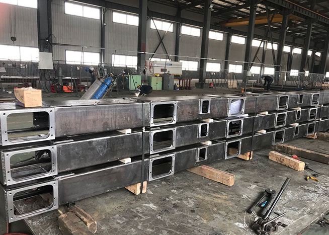 Japanese machine tool parts welded