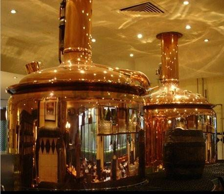 Hotel/restaurant/bar used red copper beer brewing equipment