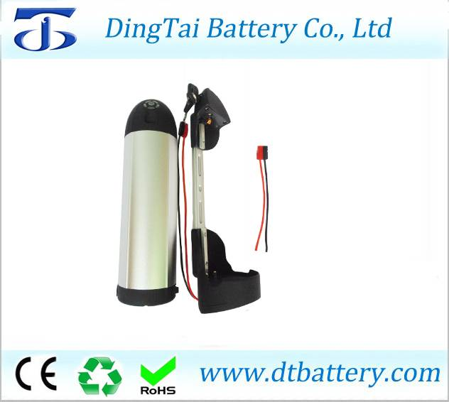 Bottle electric bike tube battery 48V 12Ah Lithium ion INR18650 dolphin ebike battery pack akku with