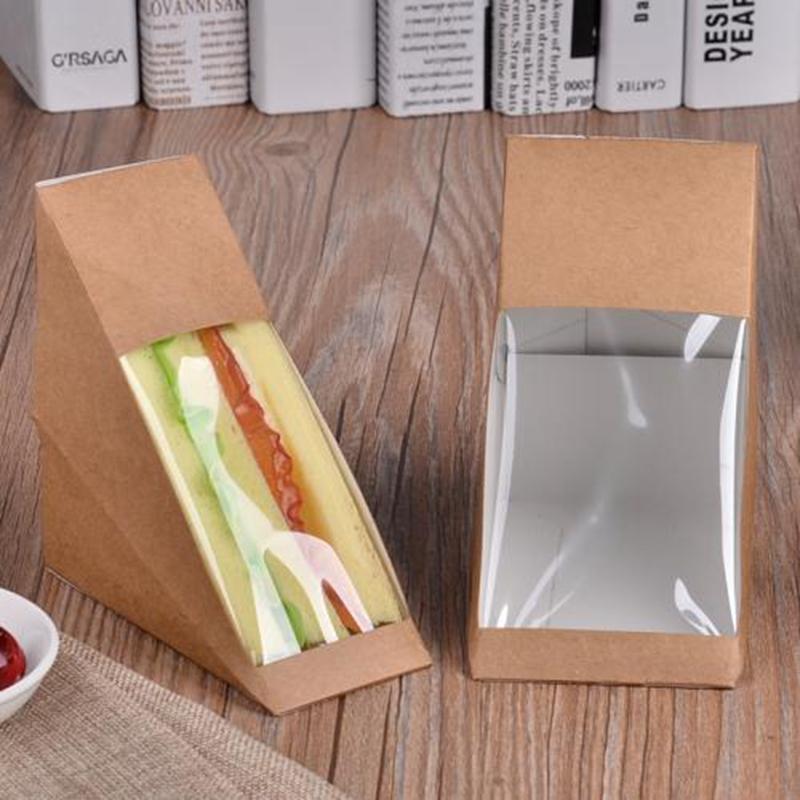 Wholesale Disposable Kraft Paper Sandwich Boxes