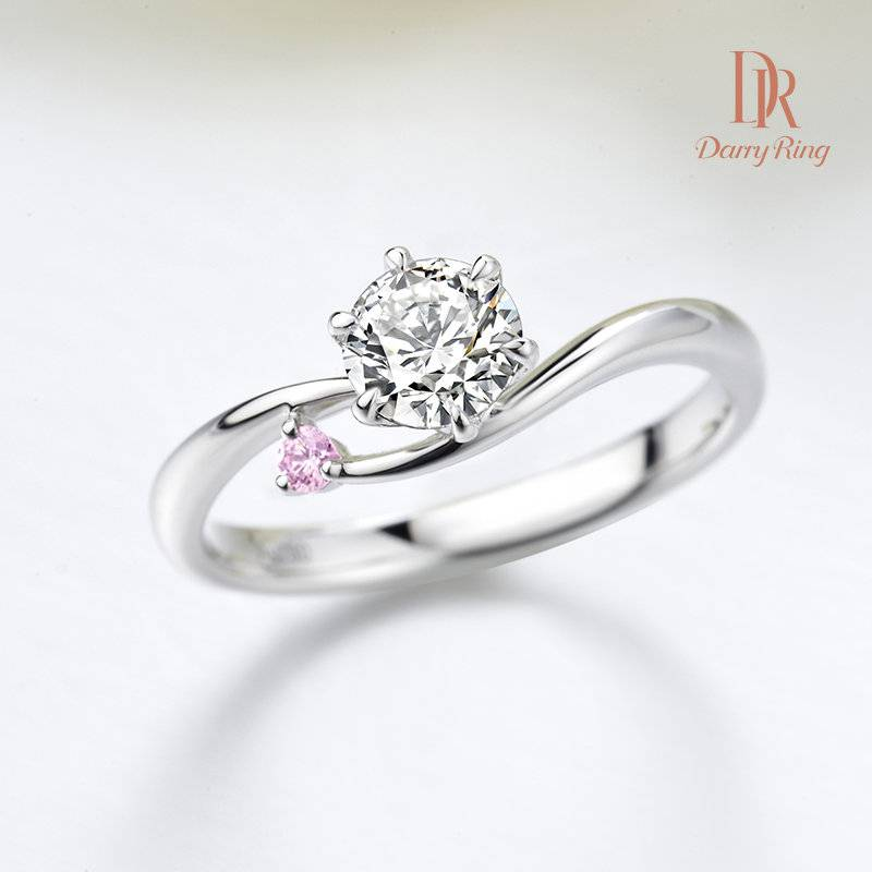 DarryRing WithYou white pink diamond proposal wedding ring high-end custom jewelry