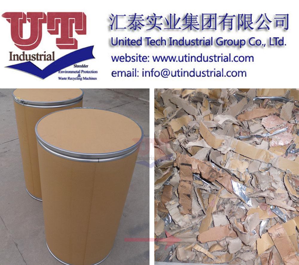 Paper tube shredder, fiber drum crusher, cardboard barrel shredder, fiber container crusher