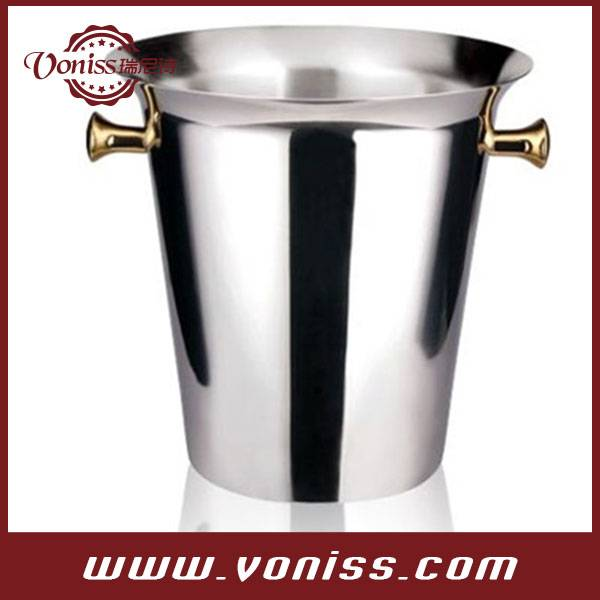 Classic European High Quality Stainless Ice Cube Container Wine Beer Cooler Drink Chiller Champagne