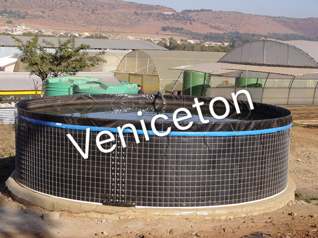 flexible PVC wire mesh tank PVC tarpaulin fish tank for fish farm