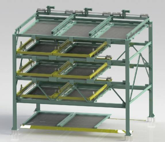5-layer Horizontal shifting mechanical parking system PSH_5