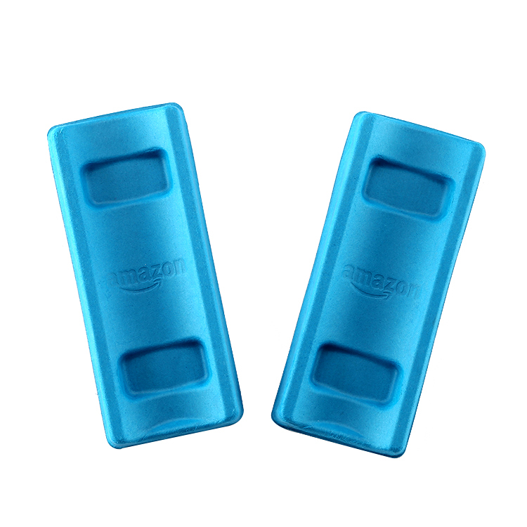 Factory selling blue molded tray electronic inner paper pulp packaging