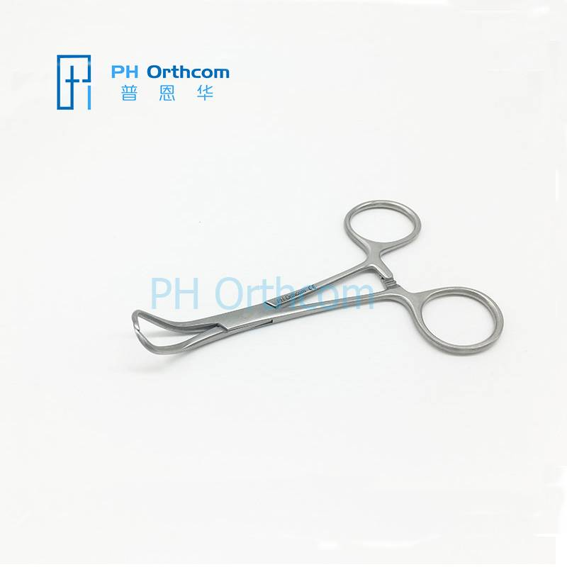 Backhuas Towel Forceps 110mm for small animals surgical operation