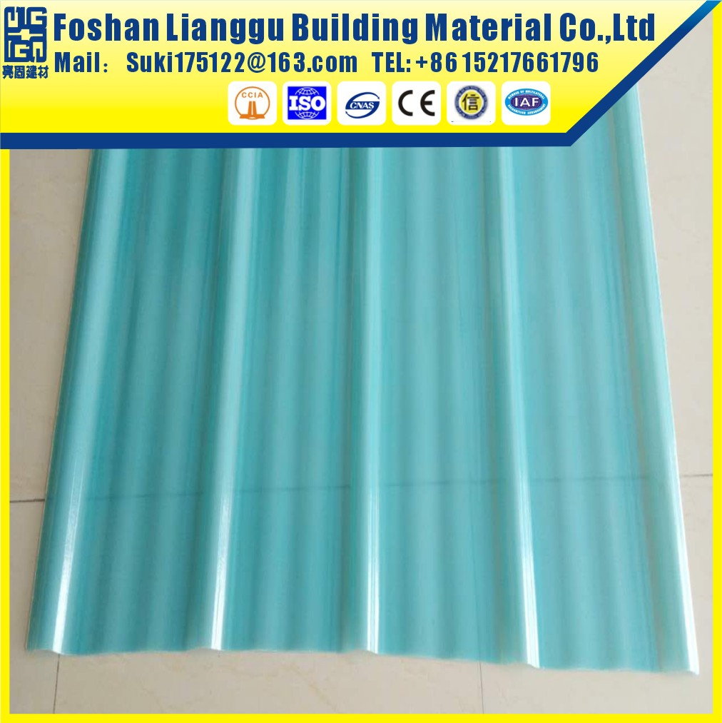 Heat insulation plastic corrugate frp sheet for roofing