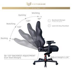 VICTORAGE Echo VE Series PU Leather Office Chair Home Seat(Black Diamond)