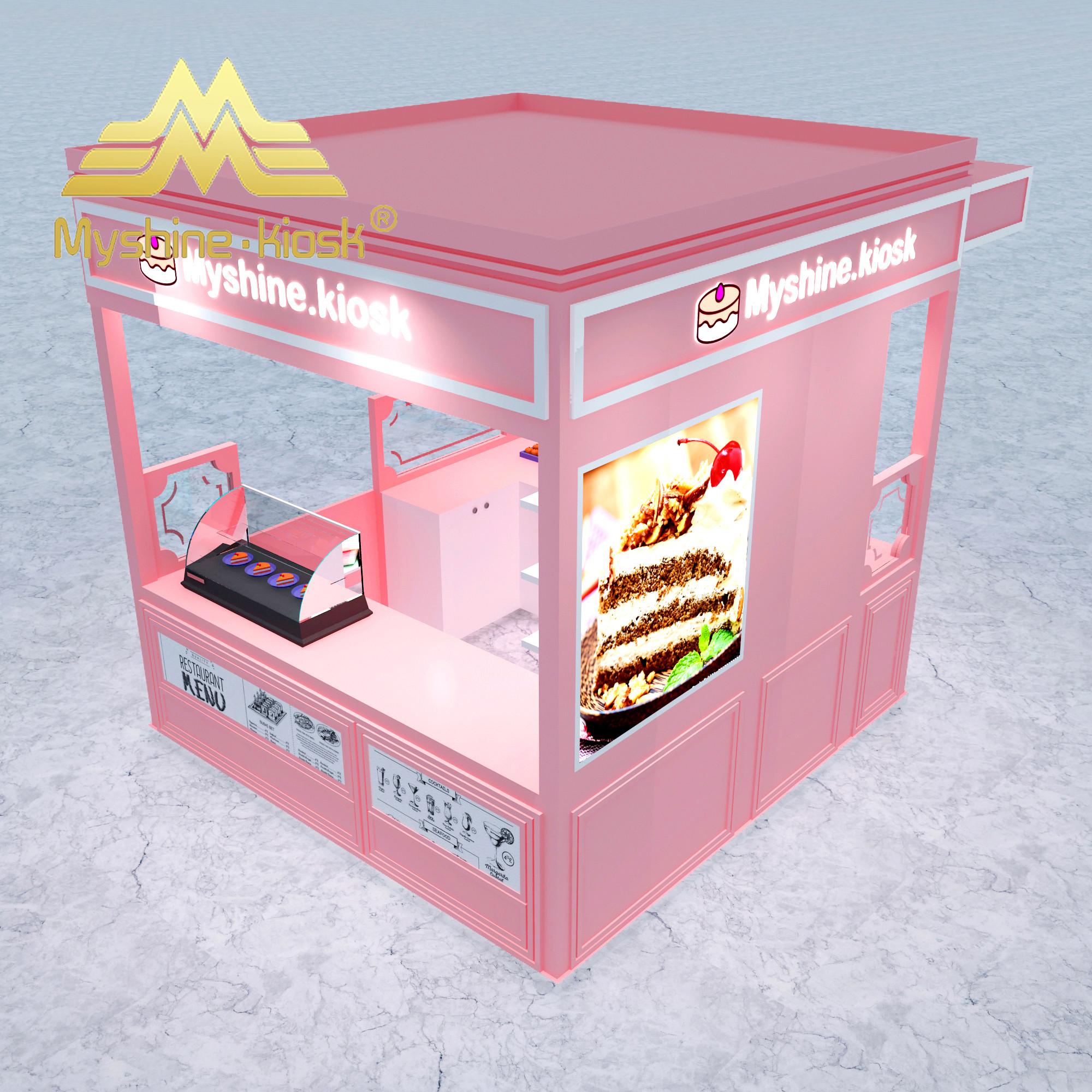Customized Food Kiosk Wood Ice Cream Kiosk Juice Bar Kiosk Design