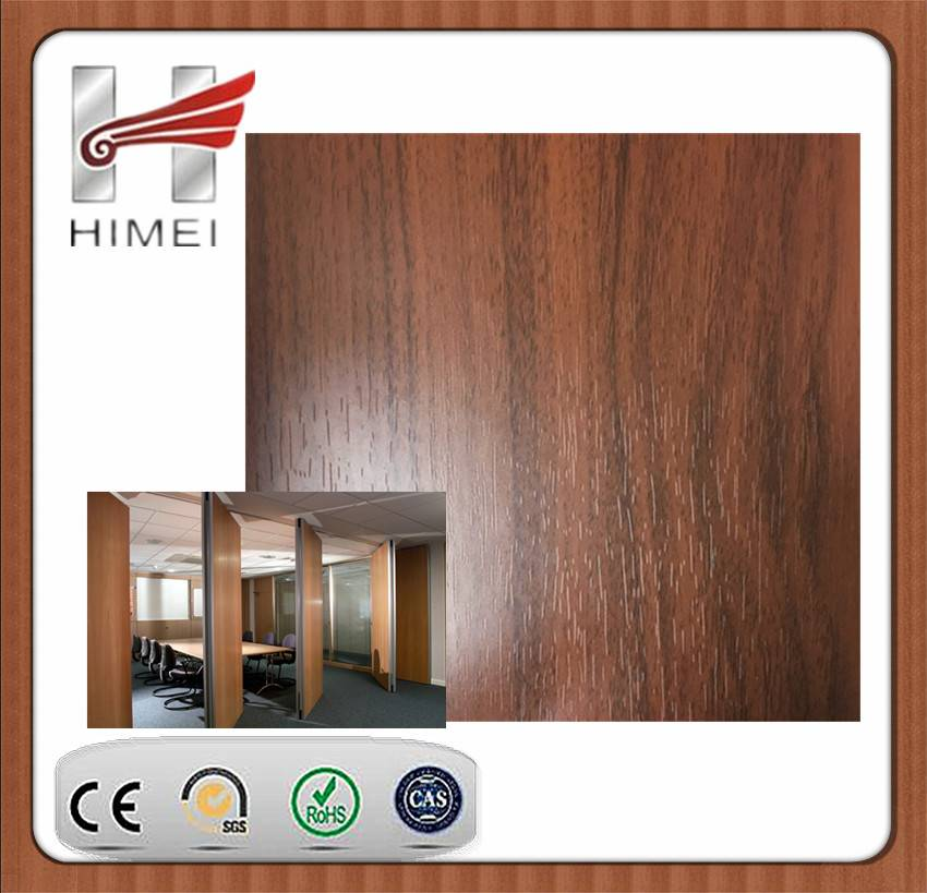 Wood grain galvanized steel sheet for partition wall