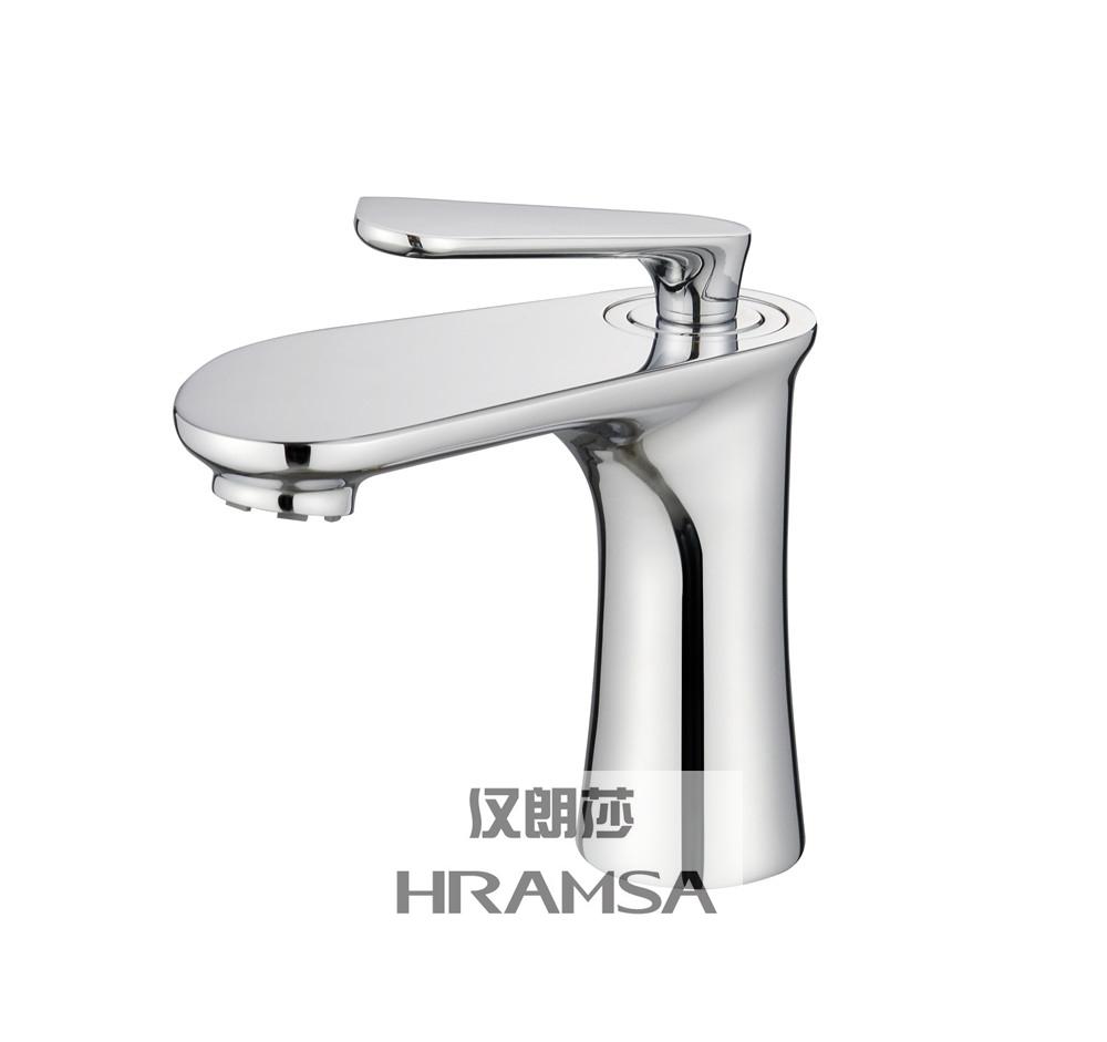 Polished Single Cold Brass Valve Basin Taps Faucet
