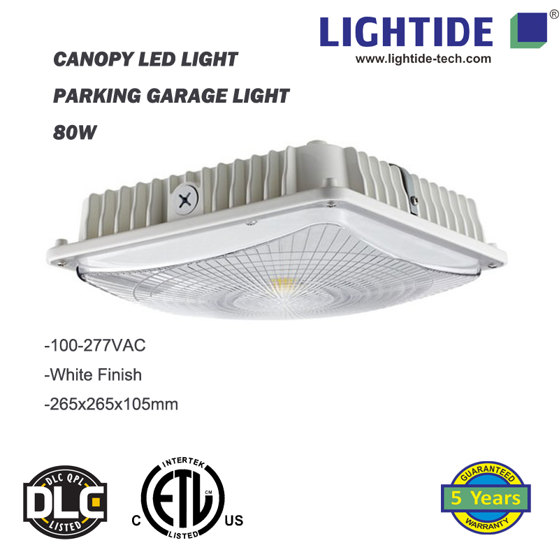 IP65 rating Canopy LED Lights 50W, 100-277vac, ETL/CETL listed, 5 yrs warranty