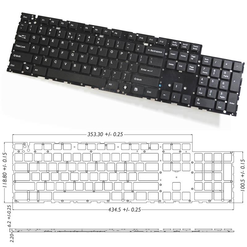 Full Size Mac-like Keyboard Module, Scissor Switch