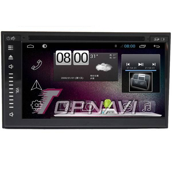 800*480 6.8inch Android 4.4 Car DVD Player Video For Universal GPS Navigation