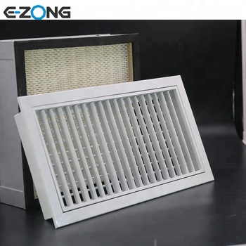 Removable adjustable single/double layer air grille