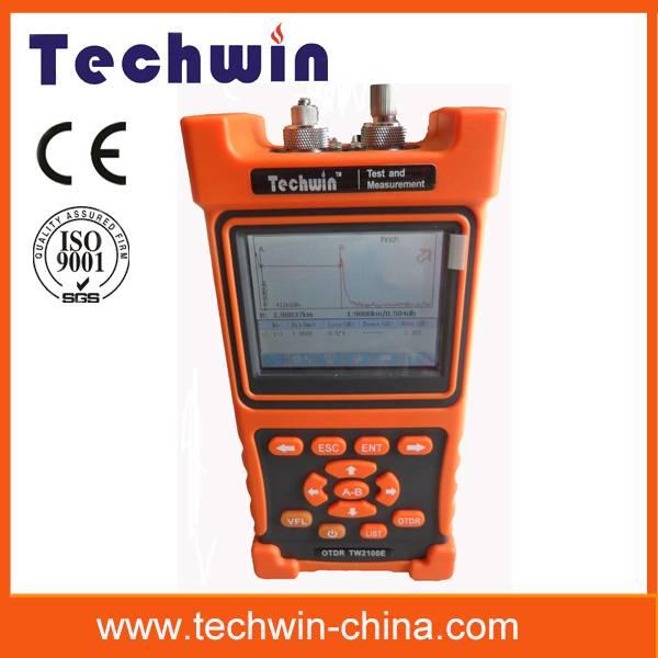 Techwin portable automatically fiber optic otdr TW2100E fiber measurement